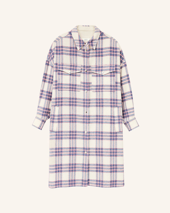 Isabel Marant Étoile - Fontia Checked Coat Blue