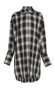 Parker Check Shirt Dress fra Mother of Pearl