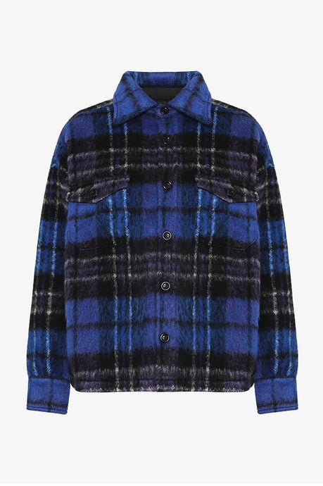 Samone Jacket Purple Plaid fra Anine Bing
