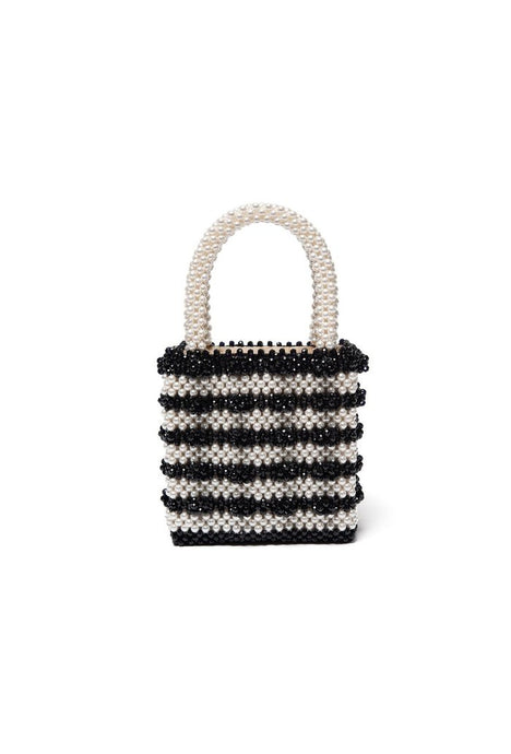 Antonia bag Creme/Black perletaske fra Shrimps