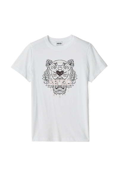 Classic fit Tiger T-shirt White- Kenzo