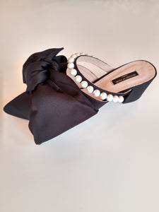 Ivy Heels Black - Mother of Pearl