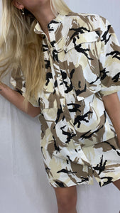 Kenzo - Printed Camo Shirt Dress