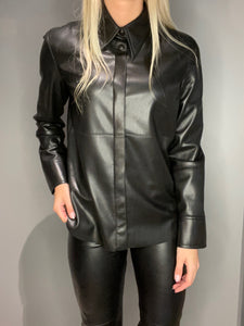 Naum Vegan Leather shirt - Nanushka