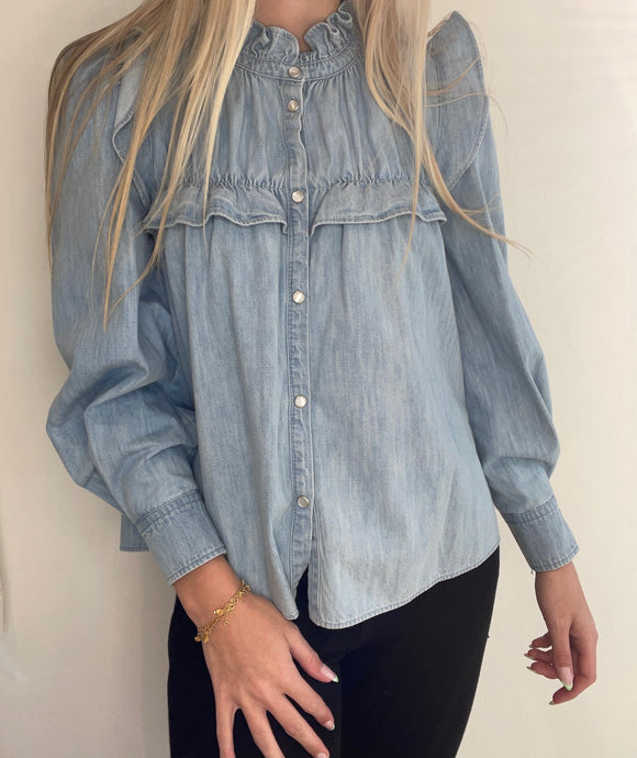 Isabel Marant Étoile - Idety Blue Denim Shirt