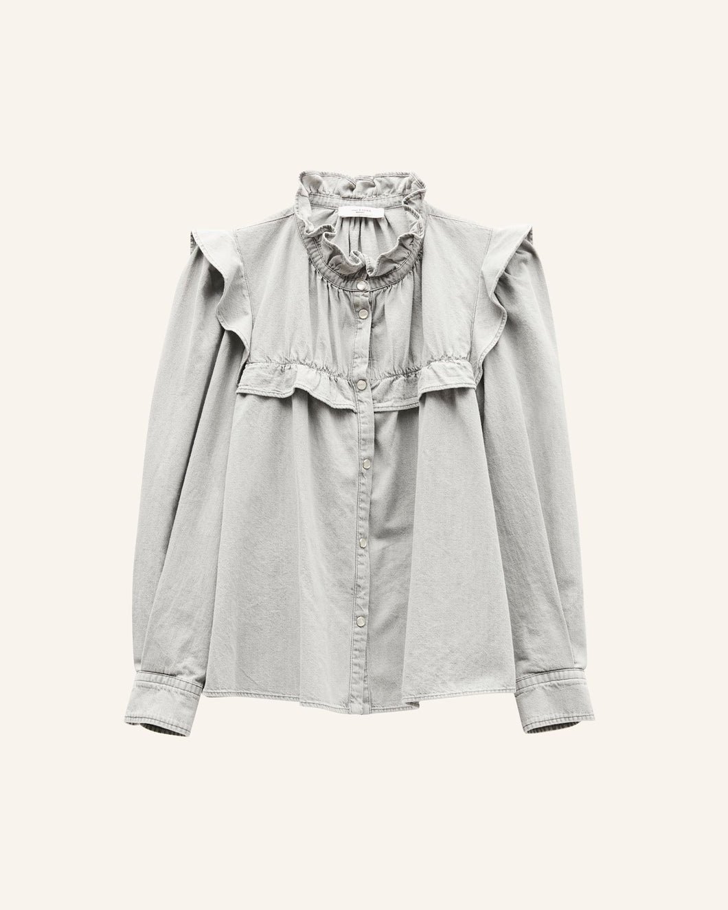 Isabel Marant Étoile - Idety Light Grey Denim Shirt