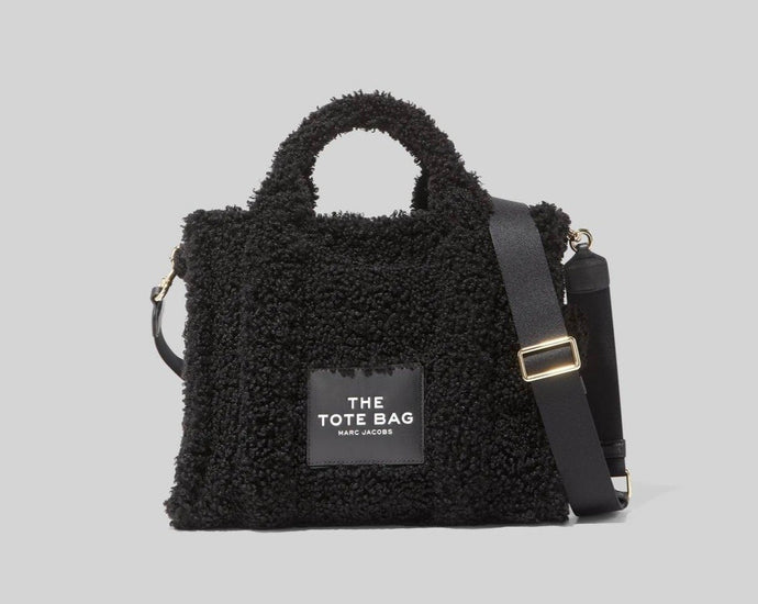 The Small Traveler Tote Bag in Teddy Black - Marc Jacobs