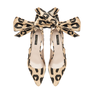 Filicity Heels Leo Bow - Mother of Pearl