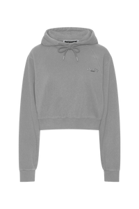 Rotate Sunday Viola Cropped Hoodie Grey