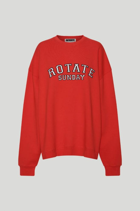 Rotate Sunday Iris Crew Neck Flame Scarlet