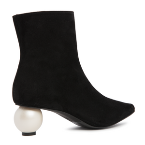 Roxy Ankle Boot Black - Mother of Pearl