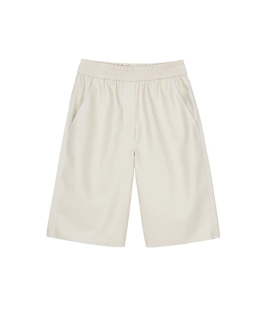Yolie Shorts White Vegan Leather - Nanushka