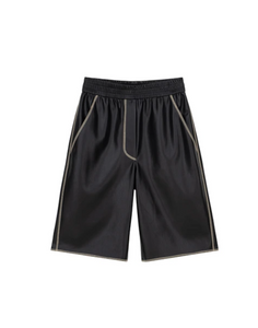 Yolie Shorts Black Vegan Leather - Nanushka