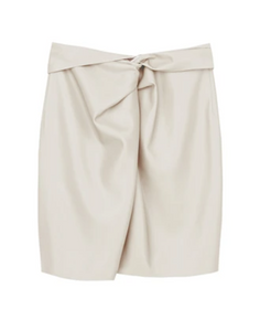 Milo Skirt White Vegan Leather - Nanushka