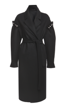 Webb Coat Black - Mother of Pearl