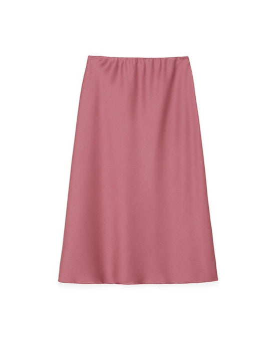 Zarina Rose Satin Skirt fra Nanushka
