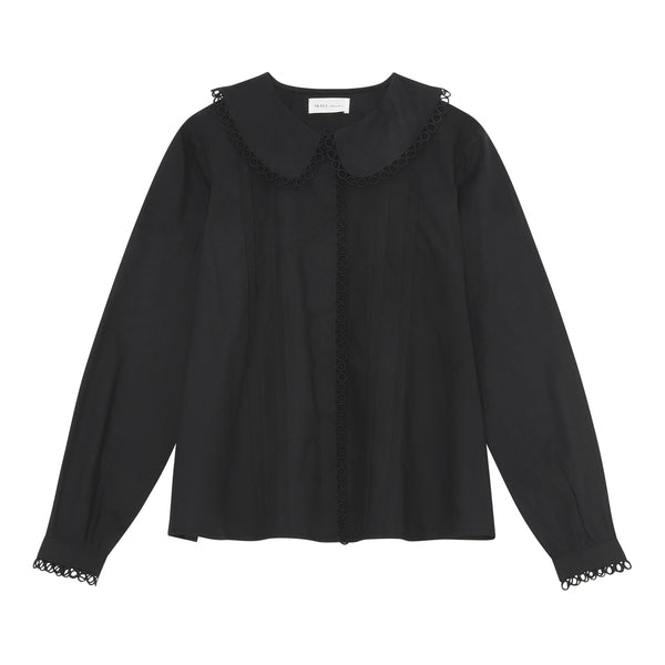 Ida Blouse i Sort - Skall Studio
