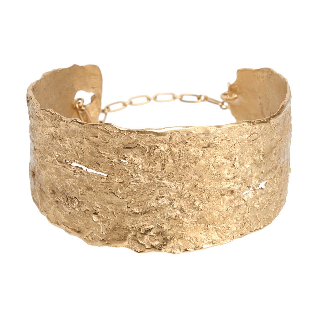 Into the Woods sustainable Gold Cuff- Sigrun