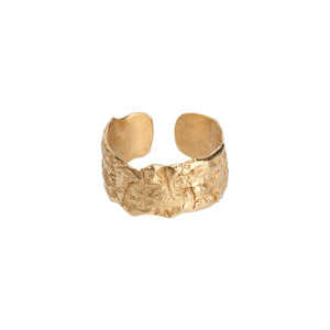 Into the Woods sustainable Gold Ring open - Sigrun