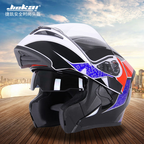Open Face Double Lens Motorbike Helmet