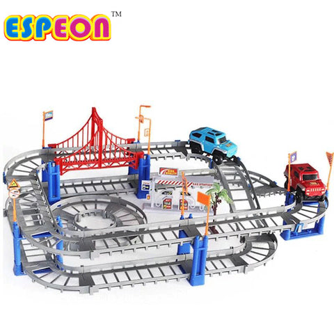 Electric Racing Car Track Slot Set