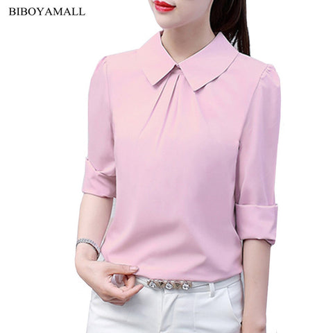 Women Blouse Casual Long Sleeve