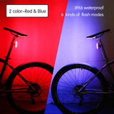 USB Rechargeable Bicycle Rear Light Waterproof