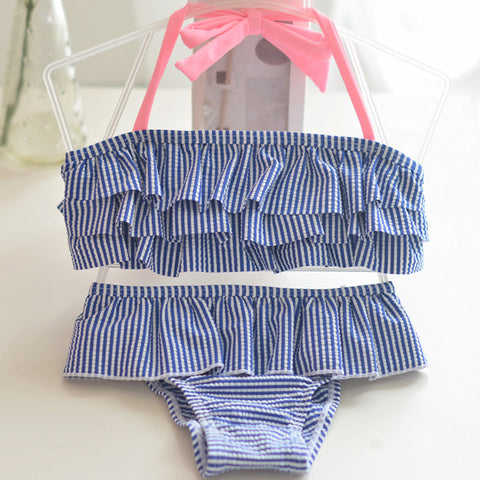 Baby Girl Striped Bathing Suit