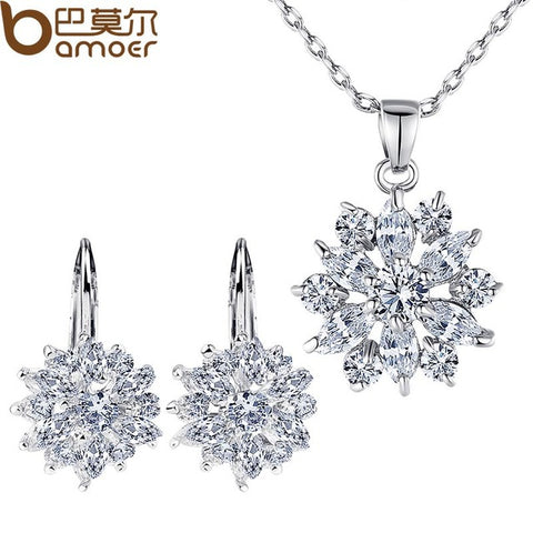 Luxury Gold Flower Jewelry Set