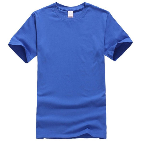Solid Colour T Shirt Mens 100% Cotton