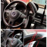 Car Steering Wheel Cover with Needle and Thread