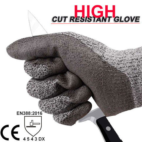 Safety High-Quality Standard Resistant Level 5 Anti-Cut Work Gloves