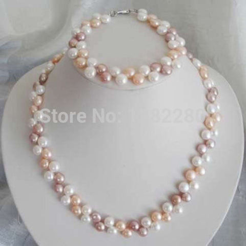 Fashion Akoya Cultured Pearl Necklace Set