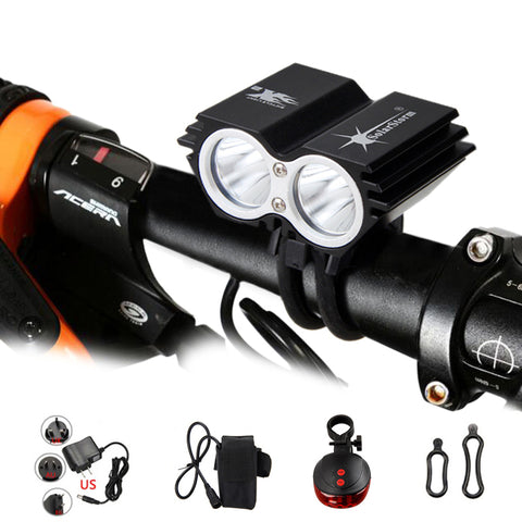 Cycling Headlight Front + Back Safety Rear