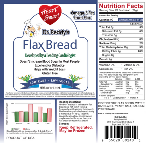 DR. REDDY'S FLAX BREAD 5CT