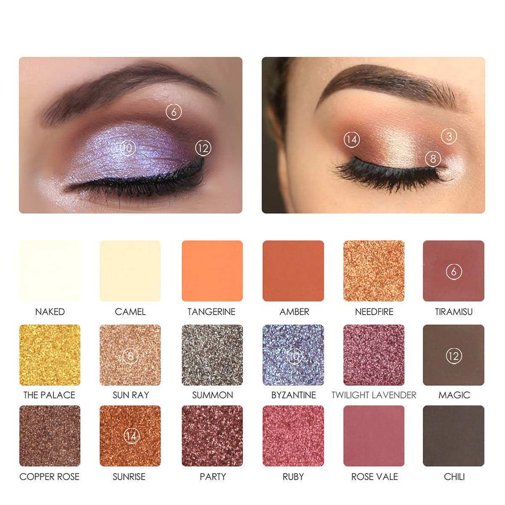 18 Colors Pearlized Color Eyeshadow Powder Eye Shadow Palette Set