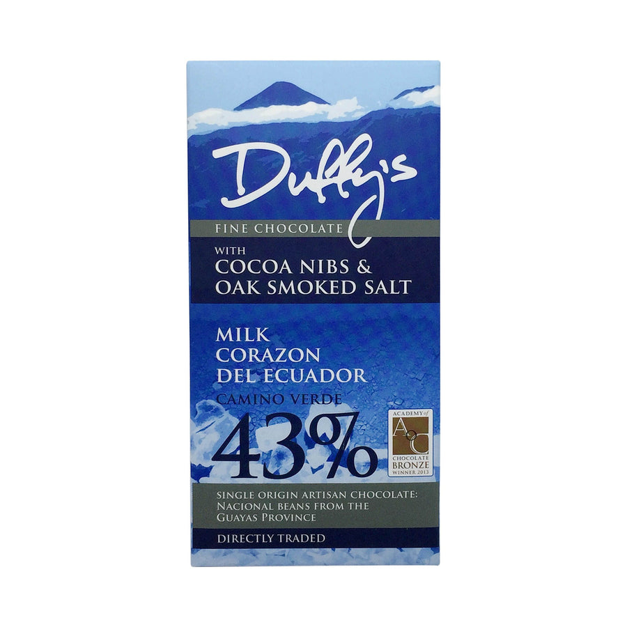 Duffy's Corazon del Ecuador Nibs Oak-Smoked Salt 43%