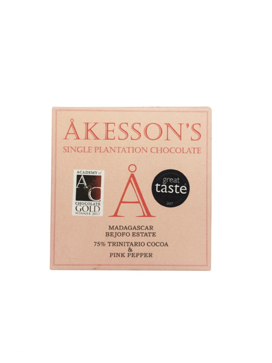 Akesson's Organic Madagascar 75% with Pink Pepper