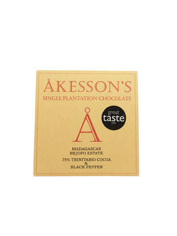 Akesson's Organic Madagascar 75% with black pepper