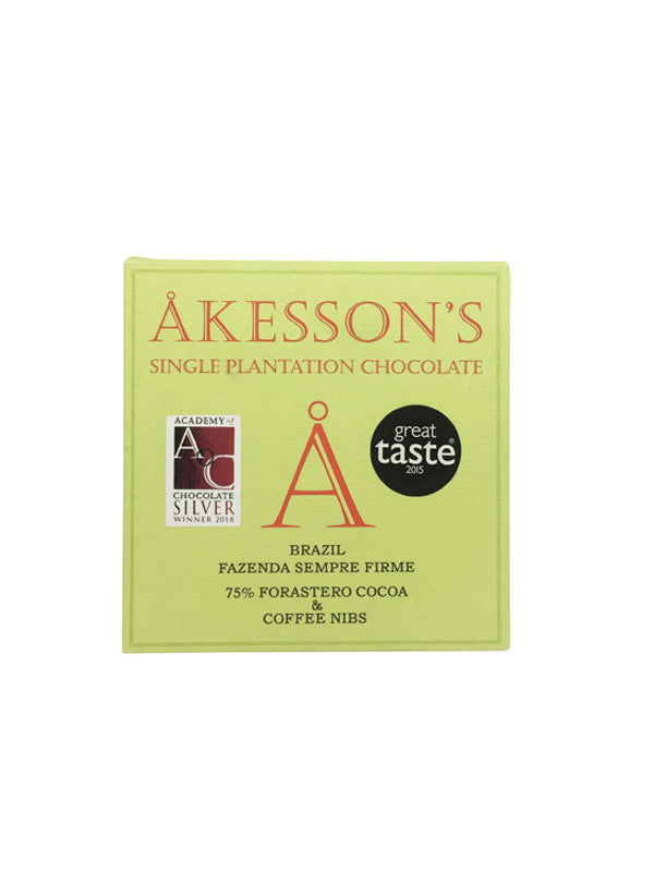 Akesson's Brazil 75% with Coffee Nibs