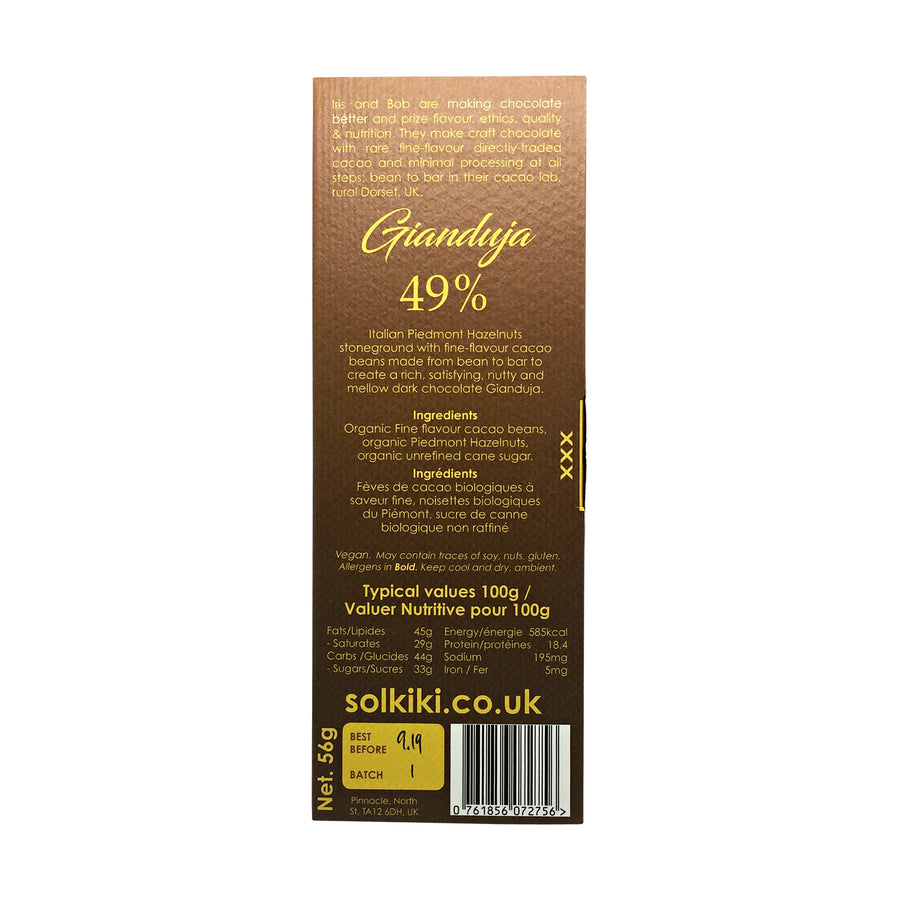 Solkiki Chocolate Gianduja 49%