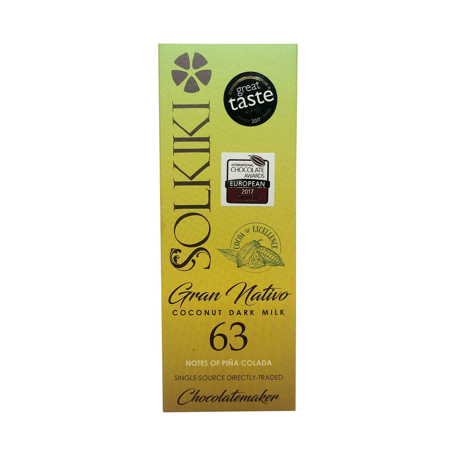 Solkiki Peru Gran Nativo Dark Coconut Milk 63%