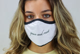 PAUSE and RESET Face Mask