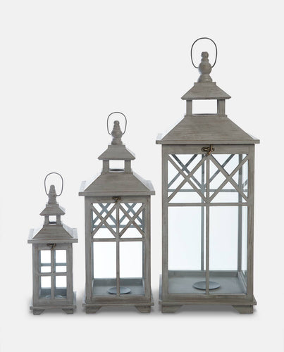 Sienna Wooden Lantern - Willow and Grey Interiors