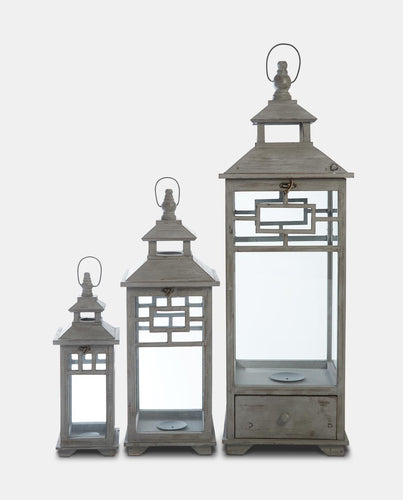 Minsk Wooden Lantern - Willow and Grey Interiors