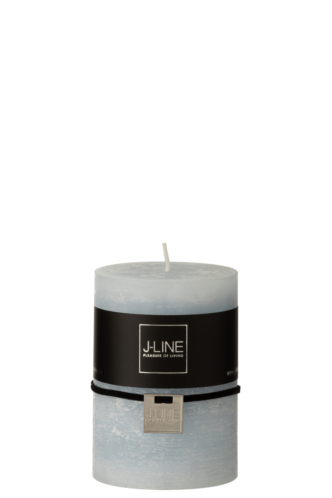 Light Blue Pillar Candle