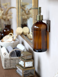 Mocca Glass Bottle with 2 Dispenser Pumps