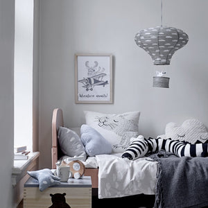 Grey Paper Lantern - Willow and Grey Interiors