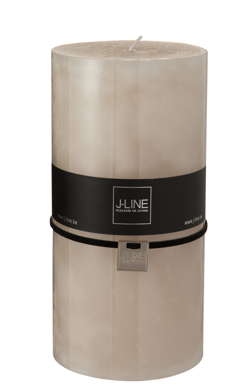 Sand Coloured Pillar Candle - Extra Large