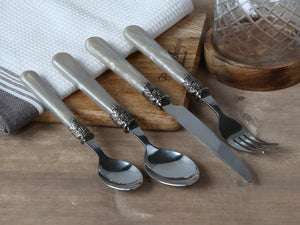 Antique Champagne Cutlery Set - set of 4 pieces